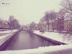 Ljubljanica, Ljubljana, winter, zima, Slovenia