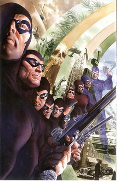 Comic Book Archive: The Dynamite Art of Alex Ross The Many Ages of the Ghost who walks. The Phantom. Comic Book Artists, Comic Book Characters, Comic Book Heroes, Comic Artist, Comic Character, Comic Books Art, Alex Ross, Gi Joe, Marvel Fanart