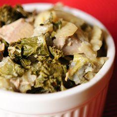 Turkey, Sweet Potato and Kale Casserole
