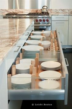 Clever Kitchen Storage Ideas For The New Unkitchen - laurel home #KitchenCabinets