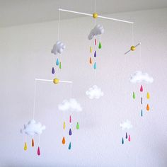 Lovely and Poetic clouds and rain drops Baby by Lovelygiftforkid, $90.00