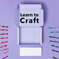 Sewing Crafts Ready, set, make! We've got everything you need to learn to craft in Right now, get a year of classes and a FREE box of supplies. Cute Crafts, Creative Crafts, Crafts To Sell, Easy Crafts, Diy And Crafts, Arts And Crafts, Paper Crafts, Canvas Crafts, Sewing Crafts