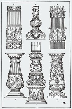 Category Meyer's Ornament - Wikimedia Commons Happy New Year Architecture Antique, Temple Architecture, Classic Architecture, Architecture Drawings, Historical Architecture, Architecture Details, Sculpture Romaine, Ornament Drawing, Tanjore Painting