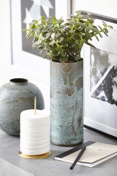 Effect Maljakko Vihreä - House Doctor @ Scandi Home, Nordic Home, Scandinavian Home, House Doctor, Vases, Interior Styling, Interior Design, Window Graphics, Metal Vase