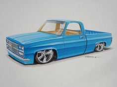 """""""The Return"""" - 1985 Chevrolet would like it better if it wasn't so low but w/e it isn't my truck. 87 Chevy Truck, Classic Chevy Trucks, Chevy C10, Chevy Pickups, C10 Trucks, Pickup Trucks, Cool Car Drawings, Chevy Muscle Cars, Truck Art"""