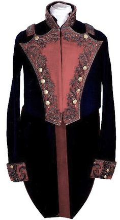 1840's Mexican Division General's Coat Heavily embroidered but less colorful than the full-dress version, it was worn with a light-blue silk sash.