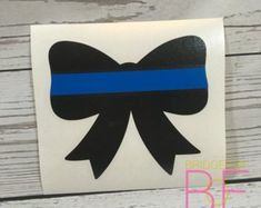 Thin Blue Line Bow Glossy Decal Sticker Vine Monogram, Monogram Decal, Monogram Design, Monogram Initials, Police Sign, Police Officer Gifts, Police Gifts, Thin Blue Line Decal, Thin Blue Lines