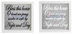 Vinyl Sticker for Box Frame BLESS THIS HOUSE O LORD WE PRAY, MAKE IT SAFE BY  #Unbranded #Novelty