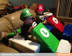 Things that cardboard and duct tape can do! How adorable!