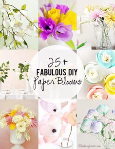 Perfect winter paper crafts!  25+ DIY Paper Blooms. www.livelaughrowe.com