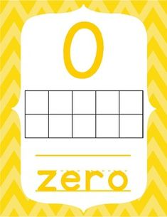 Number Posters with Ten Frames----Bright Chevron by Kids' Learning Basket Number Posters, Number Words, Page Number, Learning Numbers, Ten Frames, Classroom Decor, Classroom Management, Kids Learning, Classroom Organization