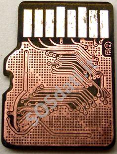 MicroSD il PCB sotto lo strato protettivo