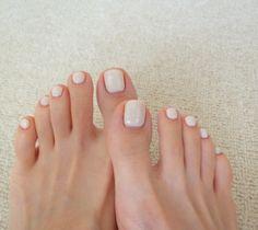 Toe Polish, Nail Polish Colors, Nude Nails, Acrylic Nails, Feet Nail Design, Feet Nails, Pedicure Nails, Toe Nail Art, Nail Arts