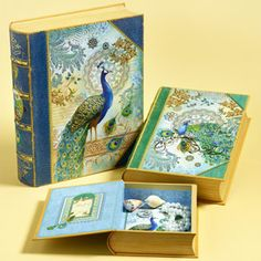 Peacock Book Boxes