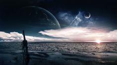 Sunset Future Scifi Digital Art  #Art #Digital #Future #Scifi #Sunset