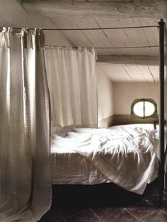 I'm not particularly into canopy beds, but that's because they're often so overcute.  This one is nice and enclosed but not too saccharine.