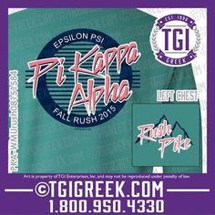 TGI Greek - Pi Kappa Alpha - Recruitment - Greek T-shirt #tgigreek #pikappaalpha #rush