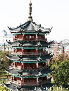 Top of the iconic Buddhist Temple in Guilin, China.  #china #chinatravel #travelphotography #asia #asiatravel #traveldestinations