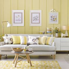 Mid Century Modern: How To Get The Look. Yellow Living RoomsLiving Room  Decorating IdeasLiving ...