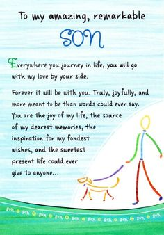 Blue Mountain Arts To My Amazing Remarkable Son Birthday Greeting Card Thoughts of Life Mother Son Quotes, Mom Quotes, Family Quotes, Love My Son Quotes, Qoutes, Daughter Quotes, Son Sayings, My Children Quotes, Quotes For Kids