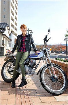 MIYUKI / HONDA TL125 ガールズライダー 【STREET-RIDE】ストリートバイク ウェブマガジン