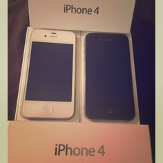 Apple IPhone 4 Verizon Cellphone 8GB Not using anymore since we've upgraded to a different one. Works perfectly. It will come with original box. No cracks or anything wrong with it. Verizon subscriber. The price is for one cell phone. Can sell together. I have a black and a white one. Other