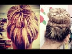 sock bun with braids