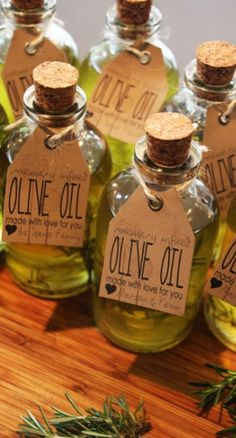 Infused olive oil....