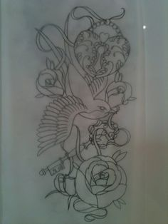 Art  Apprentice Tattoos Beautiful Birds Locks And Keys