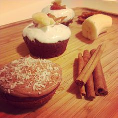 this week's flavor testings: chocolate, coconut, cinnamon & maple, bacon, banana