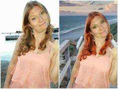 NEU: Wir Gimpen :)  Links das SEHR unvorteilhafte Originalfoto, rechts das sehr übertriebene gegimte Bild
