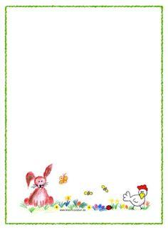 Kostenlose Briefpapiere zu Ostern ★ selber ausdrucken ★ http://kreativ-zauber.de/briefpapier-zum-ausdrucken/