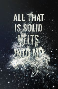 """All that is solid melts into air"" by Steven Bonner."