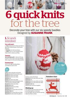 Knit Christmas Ornaments, Christmas Balls, Christmas Crafts, Christmas Ideas, Crochet Christmas, White Christmas, Xmas, Simply Knitting, Simply Crochet