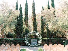 Classic Wedding with a Floral Circular Arch at Estancia La Jolla