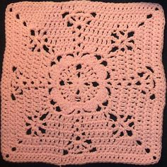 Pretty in Pink Square pattern -- free ravelry crochet afghan square pattern