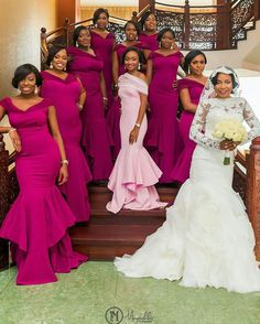 Nigerian weddings on fb Mermaid Bridesmaid Dresses, Bridal Dresses, Reception Dresses, African Fashion Dresses, African Dress, Briadsmaid Dresses, Unique Dresses, Wedding Attire, Wedding Gowns