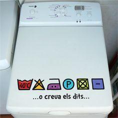 Vinilos para que no olvides las instrucciones de lavado de venivinilvinci