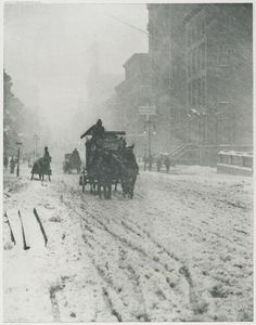 Alfred Stieglitz, Winter on Fifth Avenue, 1897, from Picturesque Bits of New York and Other Studies, Harvard Art Museums/Fogg Museum.