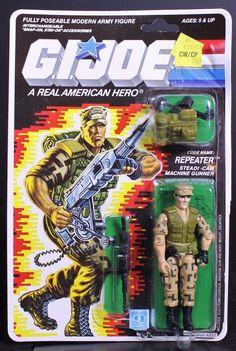 Repeater, the G.I.Joe team's steadi-cam machine gunner, from Hasbro
