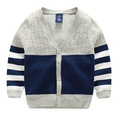 New Boy Sweaters Striped Cotton Top Warm Sweater For Boys Knitting Kids Clothes Knit Cardigan Children Spring Autumn Infant Tee Knitting Patterns Boys, Kids Clothes Patterns, Outfits For Teens, Boy Outfits, Spring Outfits, Boys Sweaters, Warm Sweaters, Little Boy Fashion, Sweater Cardigan