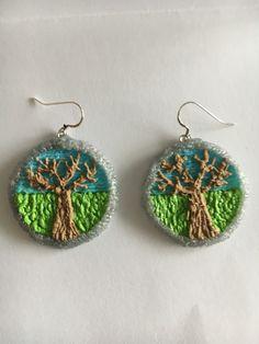 3D pen- tree of life earrings