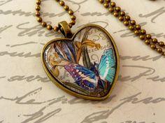 Elegant heart necklace in bronze with beautiful by Schmucktruhe