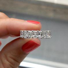 Radiant Cut Diamond Eternity Band - Ring Concierge