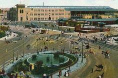 Cairo train station - 1910 , Egypt محطة مصر  ١٩١٠م القاهرة