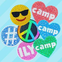 Newest camp collection of sticker beans in stores now! #stickerbeans #campfriends #lesters 👏🏻✨✨🌈