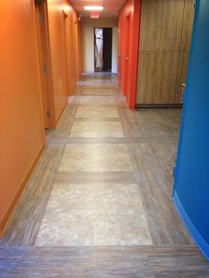 Parterre Luxury Vinyl Flooring | HardCore: Grid, Glasgow and FusedToo: Park Bench, Central Copper | Healthcare Flooring Design | http://parterreflooring.com/