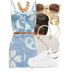 Untitled #671 by no-flex-zone on Polyvore featuring Moschino, GUESS, Converse, MICHAEL Michael Kors and H&M