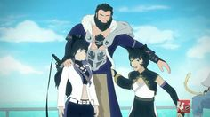 RWBY Blake, her dad, And another character that could be either her mom or her sister.