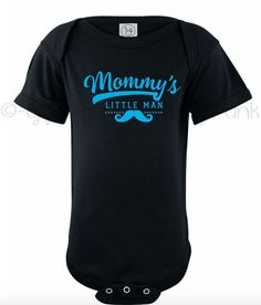 New Baby Gift - Mommy's Little Man Bodysuit - Boho Baby Outfit - Mustache Baby…